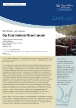 2012 Public Law lecture invitation