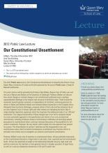 2012 Public Law lecture invitation